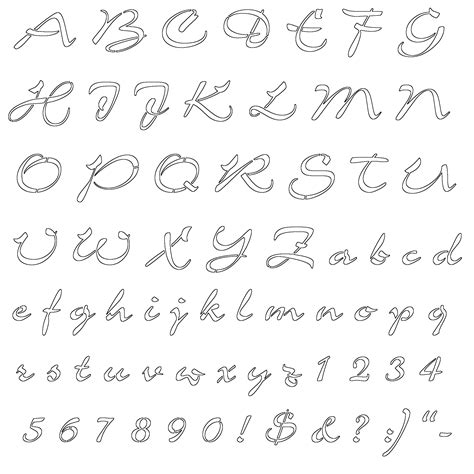 free printable outline fonts best wallpaper 2012 alphabet letters printable stencils