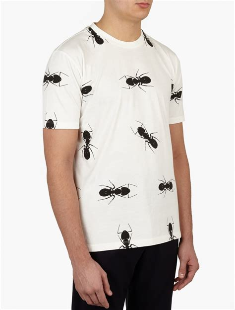 Printed Shirt 2 paul smith white printed cotton t shirt for lyst