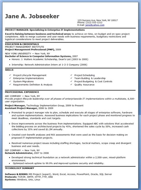 entry level it project manager resume resume downloads