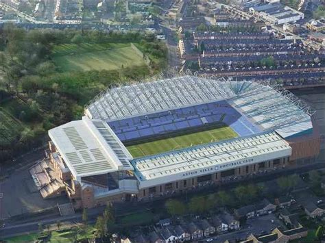 layout of villa park stadium a 50 000 villa park and a rebuilt north stand part of the