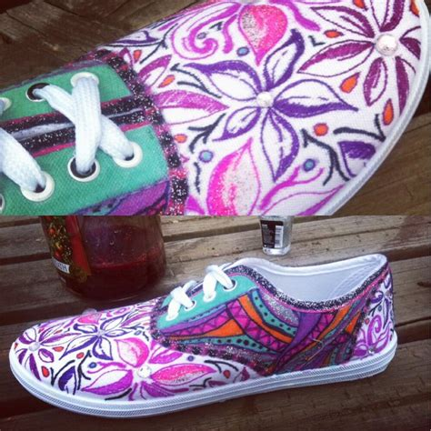 diy flower shoes 1000 images about sharpie shoes on