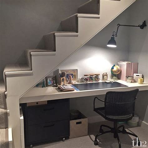 39 best images about desk under staircase on pinterest under stairs computer desk
