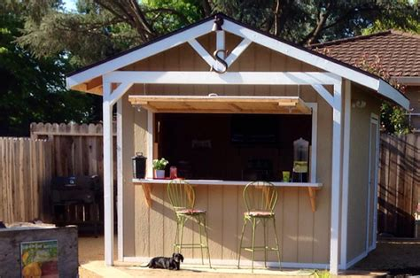 Shed Bar by How To Make A Bar Shed From A Backyard Garden Shed