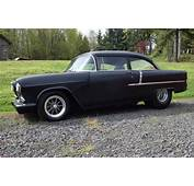 1955 Chevy Pro Street 350/350 Hot Rod Black 2 Door Post