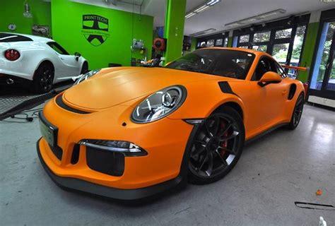 porsche gt3 rs matte matte orange porsche 991 gt3 rs by print tech