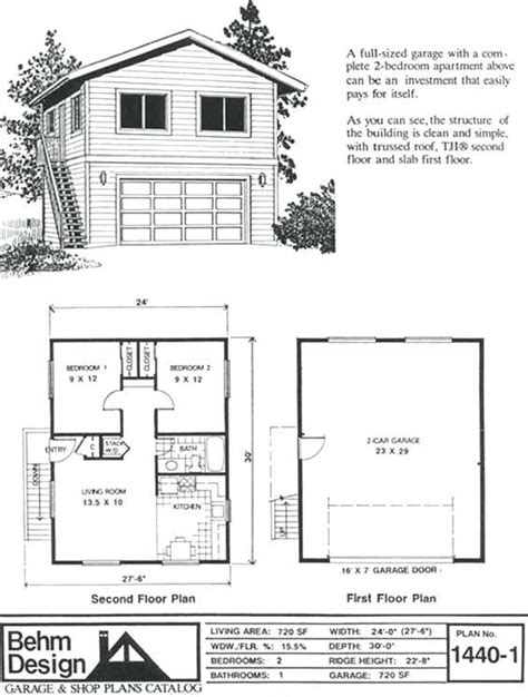 2 bedroom above garage plans savae org