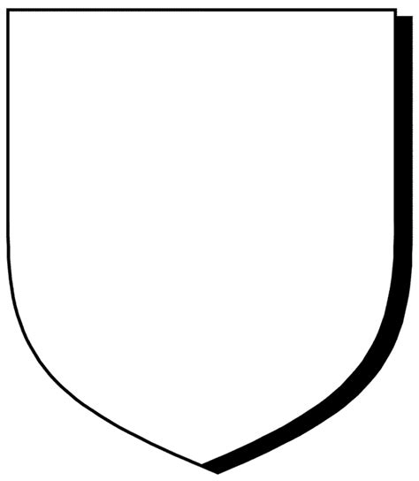 free shield template free coloring pages of coat of arms template