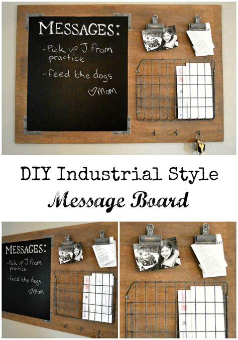 Message Board diy industrial style message board