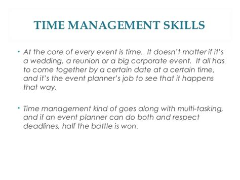 qualities of a event planner