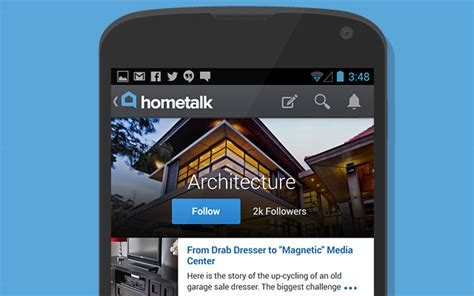 hometalk app 44 mobile android app interfaces for design inspiration
