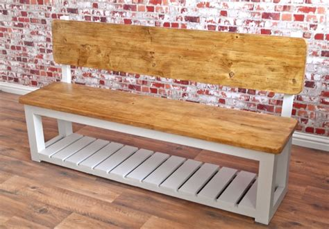 rustic hall bench rustic farmhouse pew storage hall bench made from