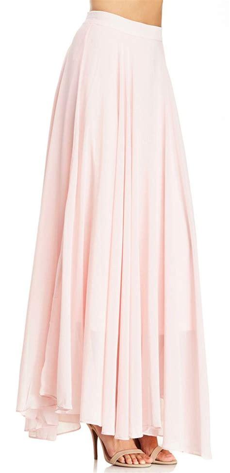 blush maxi skirt style circles at the top