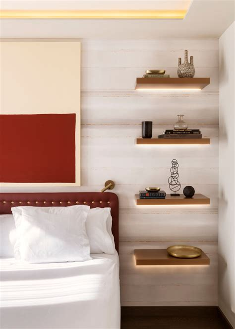 bedroom shelves bedroom design idea replace a bedside table and l