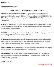 Executive Employment Agreement Template Drafting Executive Employment Agreements That Work For