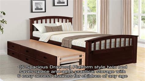Platform Noah merax noah size platform storage bed solid wood bed