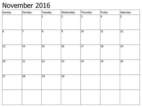 printable monthly calendar 2016 ireland calendar november 2016 ireland