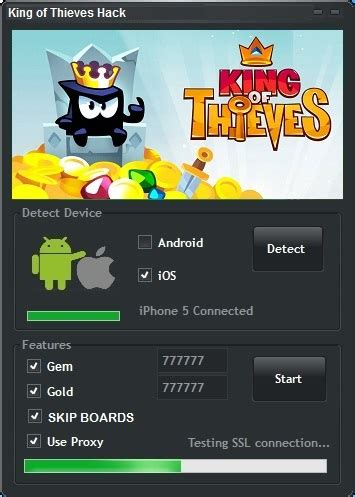 android hack tool king of thieves hack android ios no survey no task
