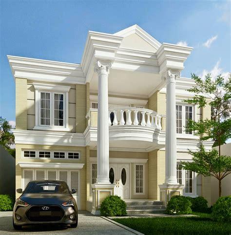 desain rumah klasik desain rumah klasik modern 2 lantai plus denah dan tak