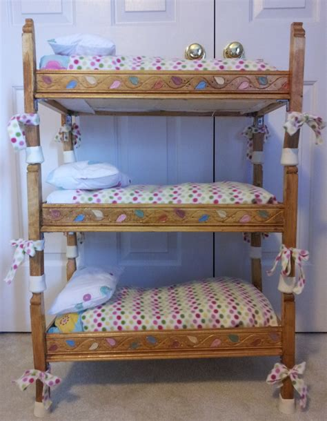 diy triple bunk beds inspiring diy build a doll triple bunk bed with colorful