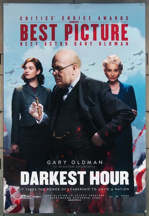 Poster Hour 2 30x40cm original darkest hour 2017 poster in c8 condition