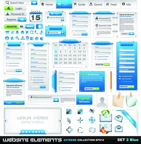 web design layout elements vector web design elements design inspiration vexels