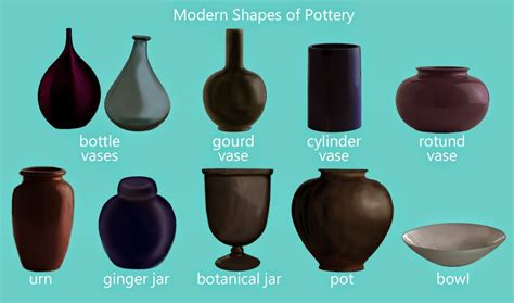 Different Vase Shapes jess the miscellaneous pottery and vase shapes