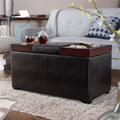 table with storage bench upholstered coffee table storage bench storage ottoman