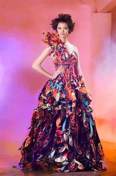 Buterfly Dres dahlias butterflies paper dress lia griffith