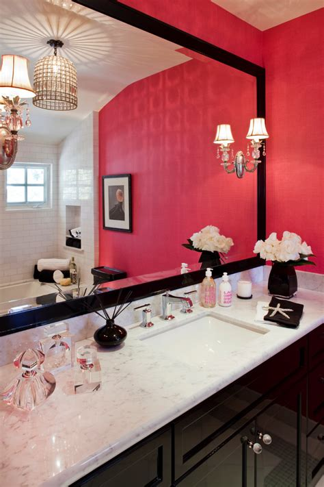 girly bathroom cute elegant and pretty i like the combination of warm paint dark wood and