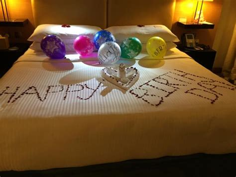 happy birthday bed picture  movenpick hotel jumeirah beach dubai tripadvisor