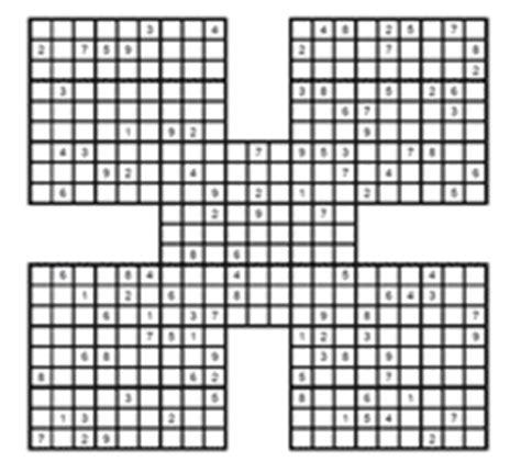 sudoku samurai para imprimir juego sudoku samurai para sudoku samurai para imprimir juego sudoku samurai para