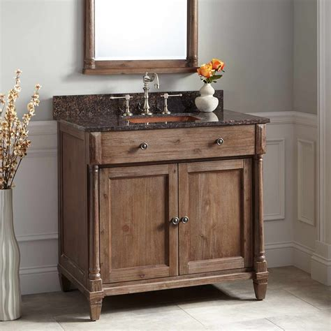neeson vanity rectangular undermount sink rustic