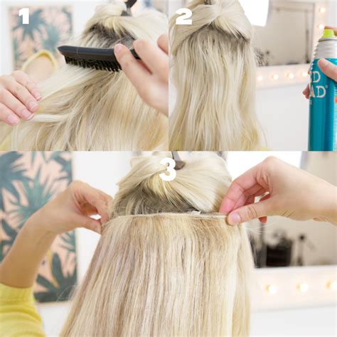 best way to put in hair extensions best of hair tips hair extensions hair tutorials