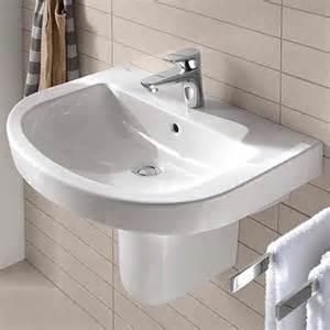 lavabo salle de bains suspendu et sur colonne espace