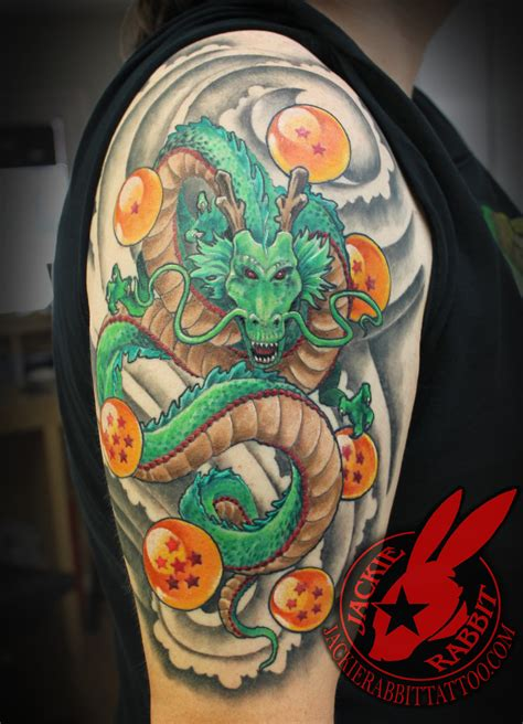 dragon ball z shenron dragon tattoo jackie rabbit by