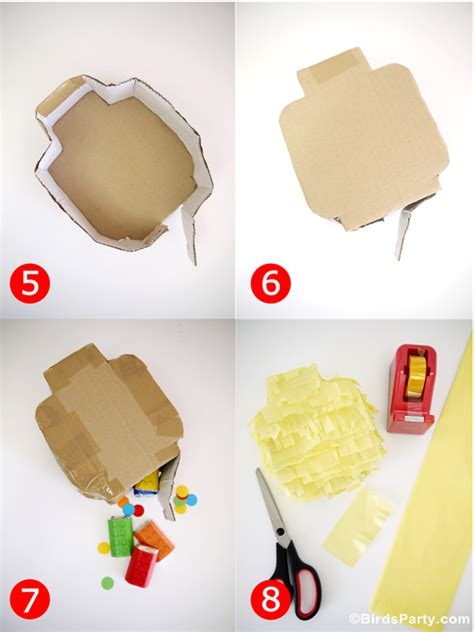 How To Make A Paper Lego - diy lego birthday pinata ideas