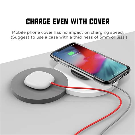 5w 7 5w 10w suction cup qi wireless charger for iphone xs xr portable fast wireless charging pad