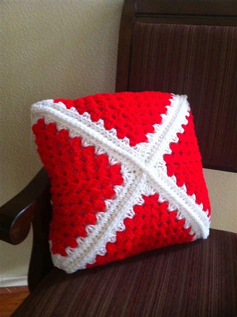Handmade Crochet Items - items similar to and white handmade crochet pillow on etsy