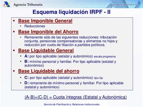tramos irpf base imponible y base del ahorro 2016 presentacion bachillerato agencia tributaria