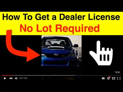 how to get your used car dealers license without a car lot