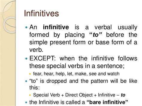 pattern verbal sentence verbals infinitives participles gerunds