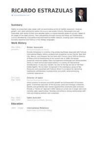Broker Assistant Sle Resume by Broker Associate Resume Sles Visualcv Resume Sles Database