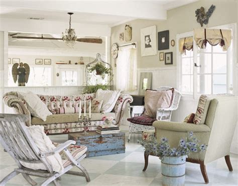 White Shabby Chic Living Room Furniture How To Decorate Shabby Chic Style To Your Living Room One Decor