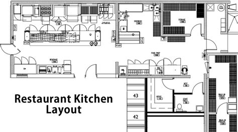 restaurant kitchen floor plan essential restaurant design guidelines for the optimum
