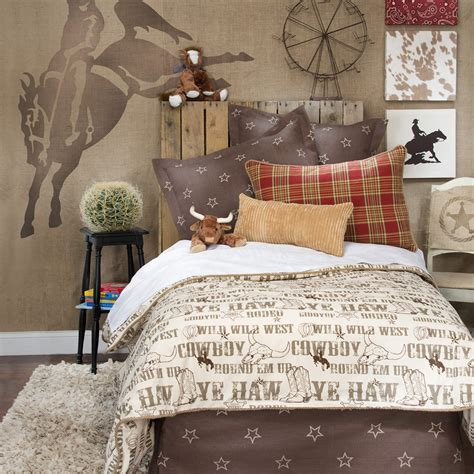 horse bedroom sets boy children kid cowboy horse western twin full queen