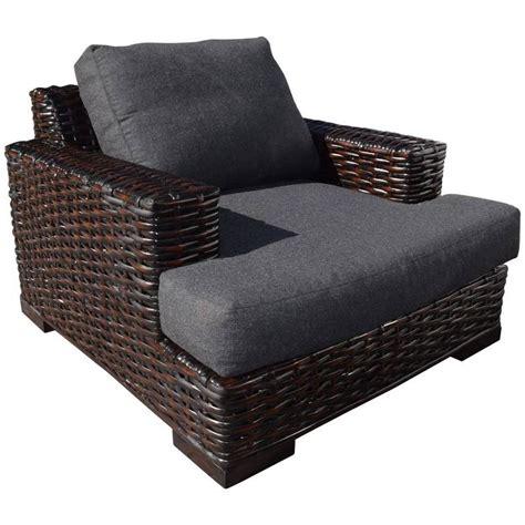 ralph lauren ottoman ralph lauren rattan and ebonized wood armchair with