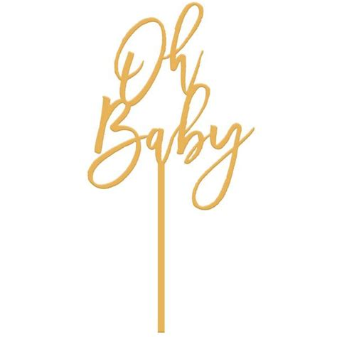 Cottage Bedroom Decor moon and lola oh baby cake topper gold