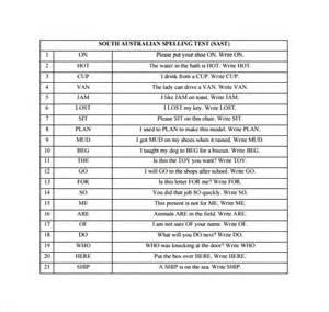 free printable spelling test template sle spelling test template 14 free documents in pdf