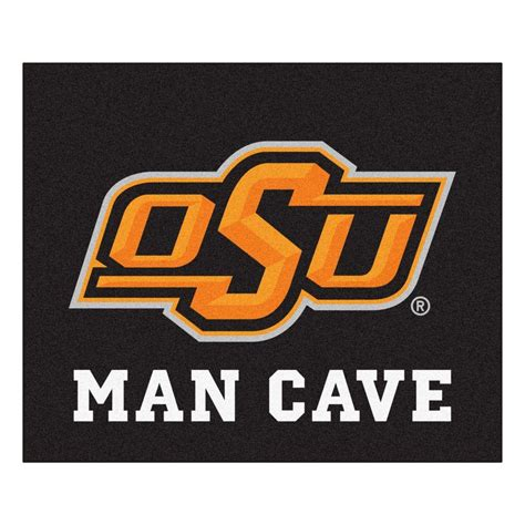 area rugs okc fanmats oklahoma state black cave 5 ft x 6 ft area rug 14590 the home depot