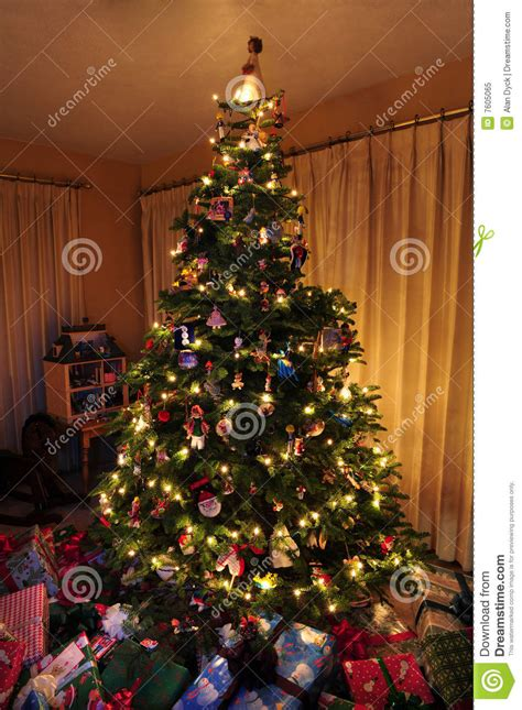 christmas tree light timer christmas tree with lights royalty free stock photo
